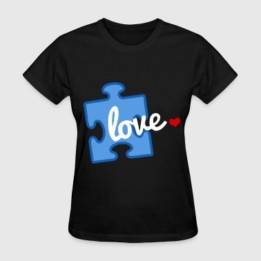 Autism Puzzle Piece Autism Awareness Puzzle Piece Love Hanes Tagless T - Women's T-Shirt