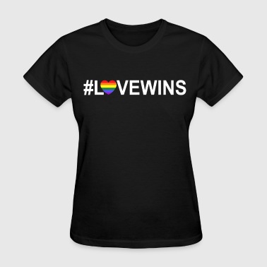 Transgender Fuck Love Wins lovewins LGBT marriage equality equal ri - Women's T-Shirt