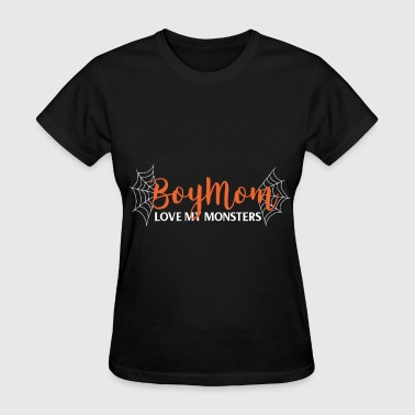 Bling Baseball Mom Apparel boymom love my monsters mom - Women's T-Shirt