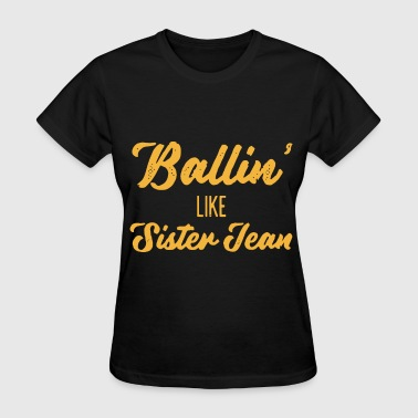 Pegasister ballin like sister team yellow for shirt mens or w - Women's T-Shirt