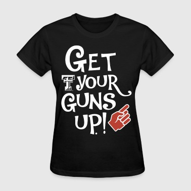 Gun Finger get you guns up red fingers gun - Women's T-Shirt