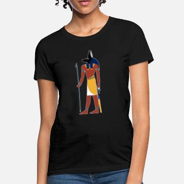 Anubis God of Funeral and Death Ancient Egypt Myth - Women's T-Shirt