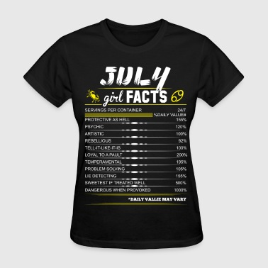 July Girl Facts Cancer July Girl Facts Cancer - Women's T-Shirt