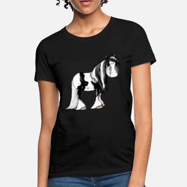 Gypsy Gypsy Cob - Irish Cob - Pinto – Horse - Women's T-Shirt