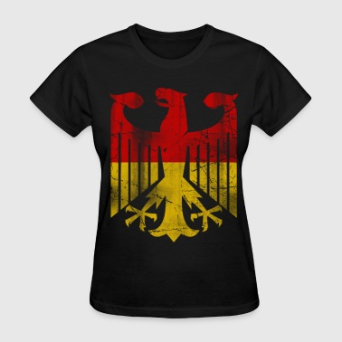 German Flag Eagle Vintage - Women's T-Shirt
