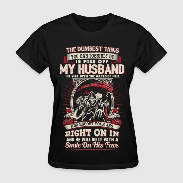 Funny Husband - He will open the gates of hell - Women's T-Shirt