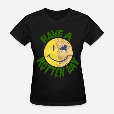 Smiley Face Zombie Smiley - Women's T-Shirt