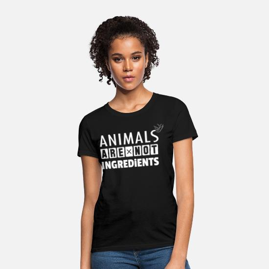 Animals T-Shirts - Animals Are Not Ingredients - Women's T-Shirt black