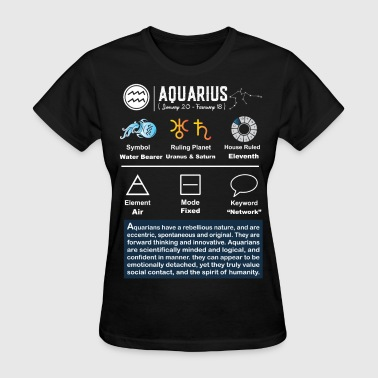 Aquarius Characteristics - Women's T-Shirt