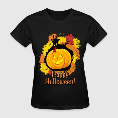 Orange Jack-O-Lantern Halloween - Women's T-Shirt