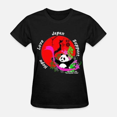 Filthy Japan Japan Earthquake Relief Support 3D Panda BG - Women's T-Shirt