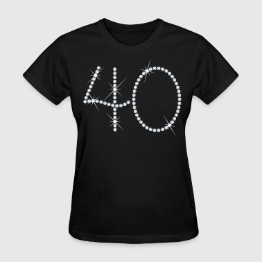50 And Fabulous Faux Rhinestone 40th Birthday - Women's T-Shirt