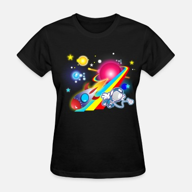 Outer Space Outer Space Cartoon - Women's T-Shirt