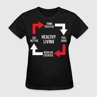 Healthy Eating Healthy Living Diagram - Women's T-Shirt
