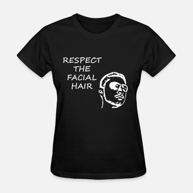 Facial Hair FACIAL HAIR WHITE (WOMEN'S) - Women's T-Shirt