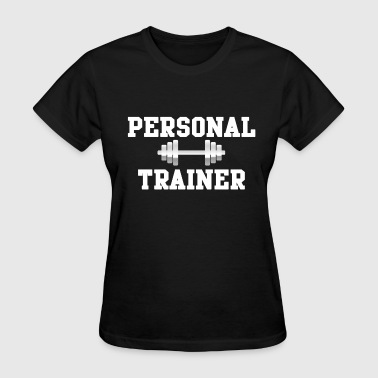 Personal Trainer, White Dumbells Weights Fitness - Women's T-Shirt