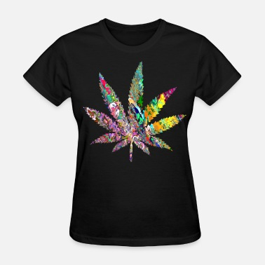 Trippy Psychedelic Trippy Weed - Women's T-Shirt