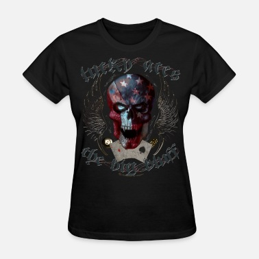 Lucky Aces lucky aces gamble big bluff skull wings - Women's T-Shirt