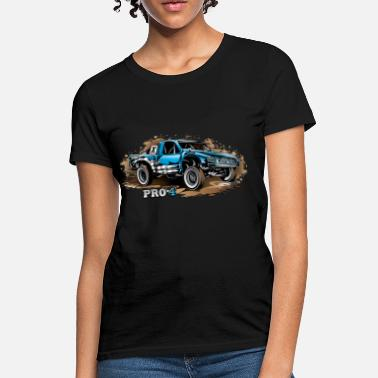Trophy Pro4 Race Truck Blue - Women's T-Shirt