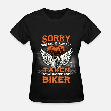 Motorcycle Girl Art Motorcycles - Taken Biker - Women's T-Shirt