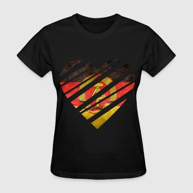 East Germany Heart - Women's T-Shirt