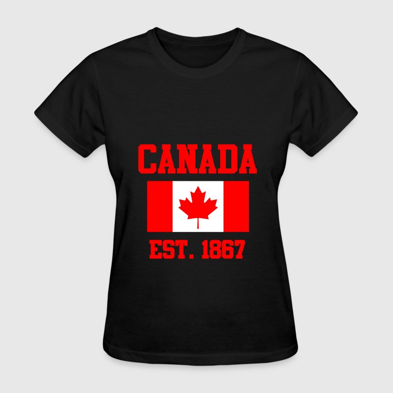 CANADA ESTABLISHED 1867 Leaf Flag Graphic T shirt - Women's T-Shirt