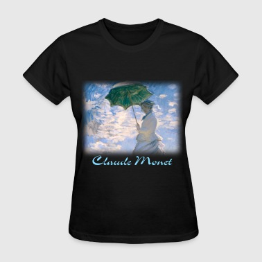 claude_monet__the_promenade_blk - Women's T-Shirt