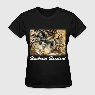 umberto_boccioni__charge_of_the_lancers_ - Women's T-Shirt