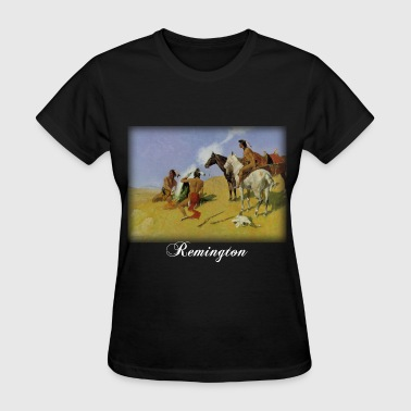 frederic_remington__smoke_blk - Women's T-Shirt