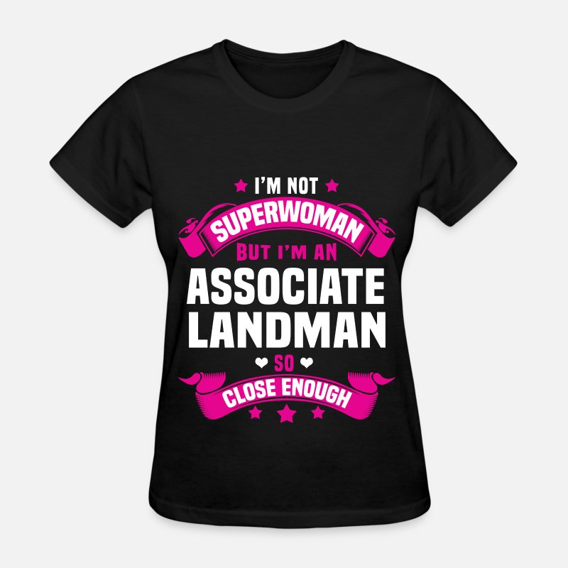 Super Woman T-Shirts - Associate Landman - Women's T-Shirt black
