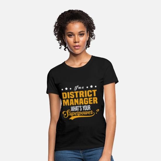 Manager T-Shirts - District Manager - Women's T-Shirt black