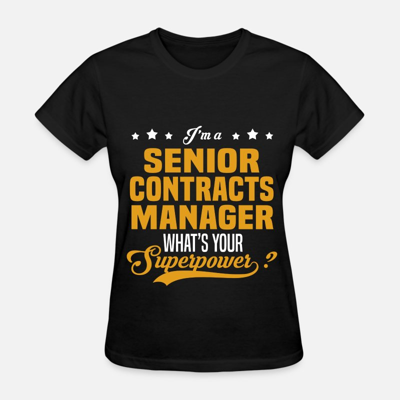 Superpower T-Shirts - Senior Contracts Manager - Women's T-Shirt black