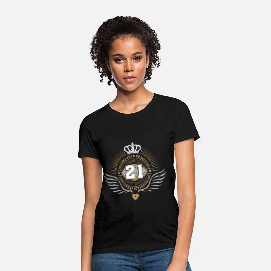 Age T-Shirts - jubilee_crown_21_06 - Women's T-Shirt black