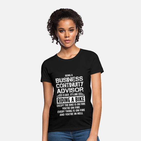 Business T-Shirts - Business Continuity Advisor - Women's T-Shirt black