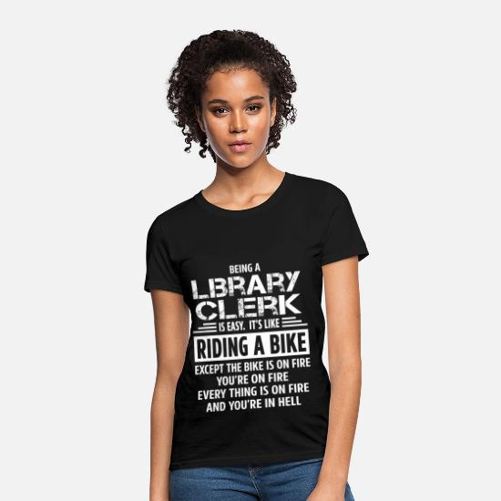 Library T-Shirts - Library Clerk - Women's T-Shirt black