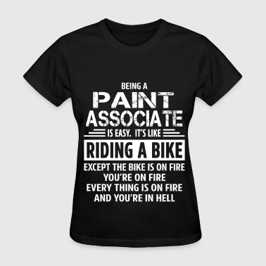 Biking Paint Paint Associate - Women's T-Shirt