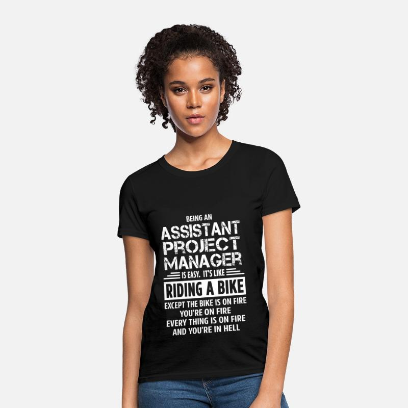 Assistant Project Manager T-Shirts - Assistant Project Manager - Women's T-Shirt black