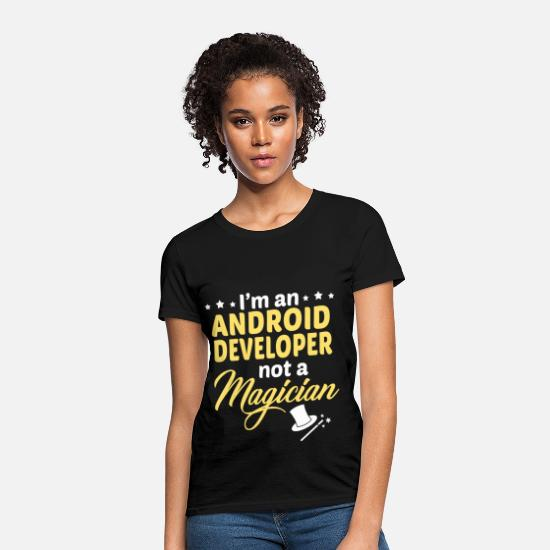 Android Developer Apparel T-Shirts - Android Developer - Women's T-Shirt black