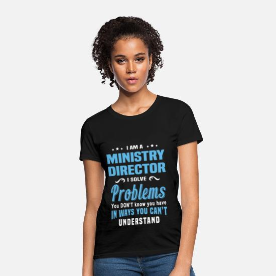 Funny T-Shirts - Ministry Director - Women's T-Shirt black