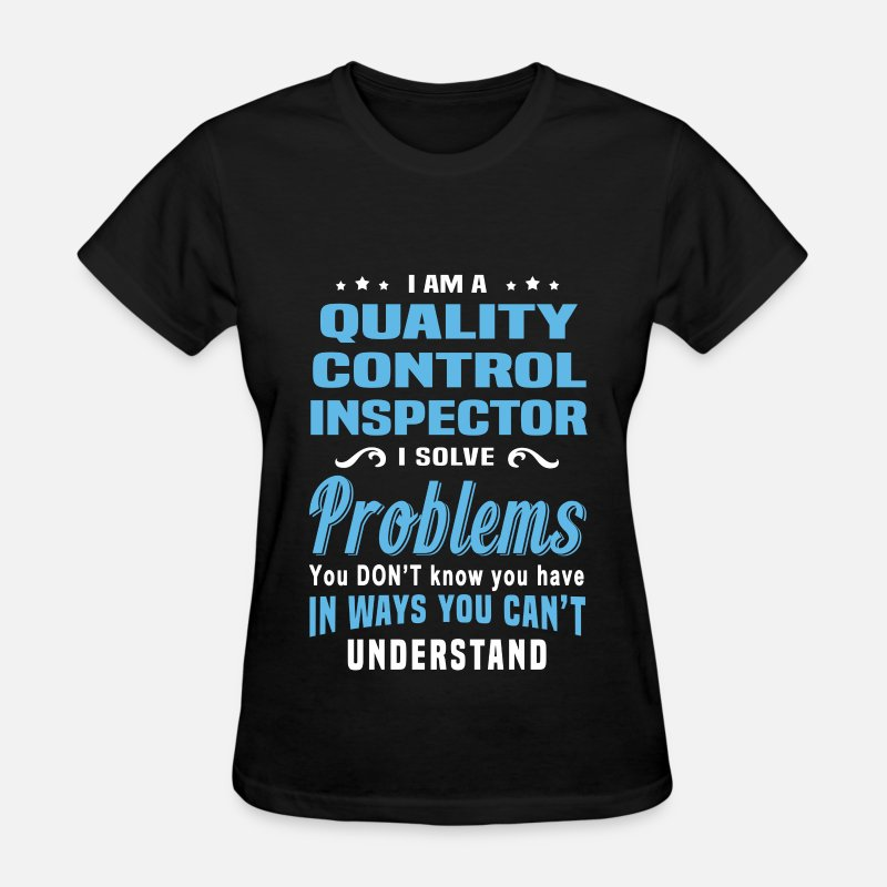 Funny T-Shirts - Quality Control Inspector - Women's T-Shirt black