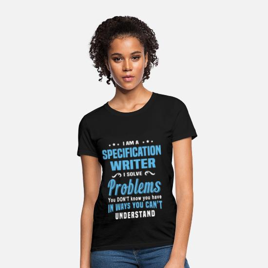 Specific Age T-Shirts - Specification Writer - Women's T-Shirt black
