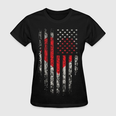 US Love Flag Grunge - Women's T-Shirt