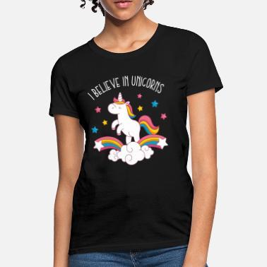 ec9cb439b68 Believe In Unicorn Believe In Unicorns - Women's T-Shirt