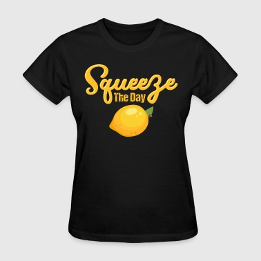 Lemon Graphic Lemon Squeeze The Day - Women's T-Shirt
