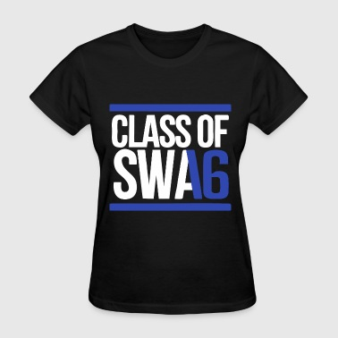 CLASS OF SWAG (2016) blue with bands - Women's T-Shirt