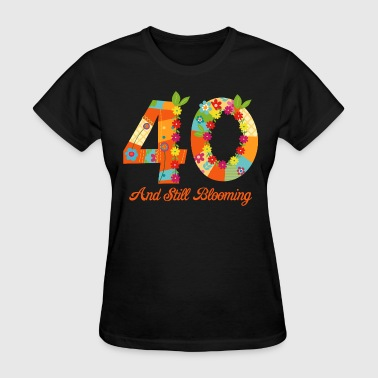 Blooming 40th Birthday - Women's T-Shirt