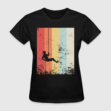 Distressed Vintage Rock Climbing Rappelling gay t - Women's T-Shirt
