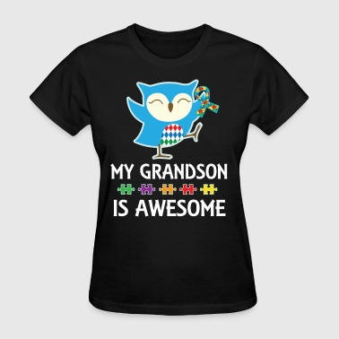 Autism Awareness Grandson Owl - Women's T-Shirt