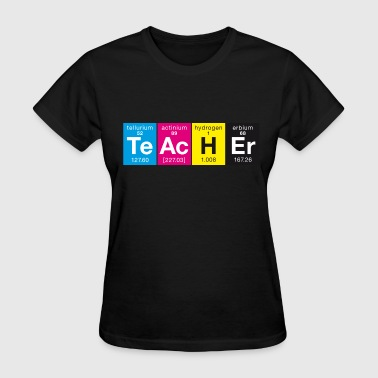 Elementary TeAcHEr CMYK colors style - Women's T-Shirt