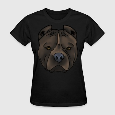 Pitti Pitbull head with many details - Women's T-Shirt